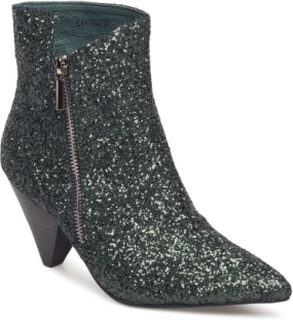 Boot Glitter Shoes Boots Ankle Boots Ankle Boots With Heel Grå Sofie Schnoor