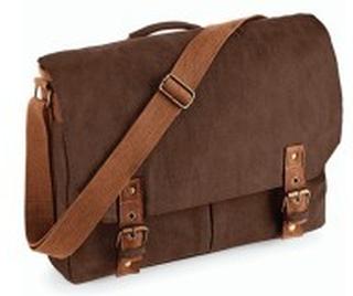 Vintage Canvas Satchel Messenger Vintage Brown