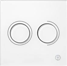 Gustavsberg Väggtrycke Triomont XS pneumatisk duo glas, vit