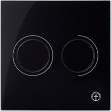 Gustavsberg Väggtrycke Triomont XS pneumatisk duo glas, svart
