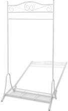 vidaXL Klädställning stål vit