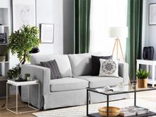 Beliani Soffa 3-sits ljusgrå HOLMEN