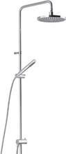 Mora Rexx Shower System S6 - Med tak- och handdusch - Krom