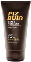 Piz Buin Tan & Protect Tan Intesifying Lotion SPF 15 150ml Aurinkotuotteet Läpinäkyvä