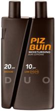 Piz Buin Moisturizing Sun Lotion DUO spf 10/20 300ml Solprodukter Transparent