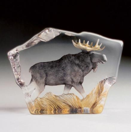 Målerås Glasbruk - Safari Elg