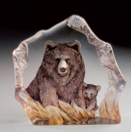 Målerås Glasbruk - Safari Bjørn