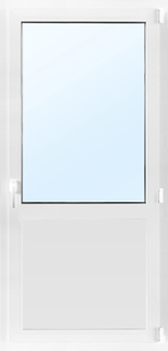Dörr med fönster 3-glas - Inåtgående med tilt - PVC - U-värde 0,96 7x18