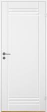 Innerdörr Bornholm - Kompakt dörrblad med spårfräst dekor A2 Vit (standard) (NCS S 0502-Y)