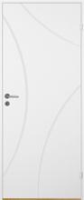 Innerdörr Bornholm - Kompakt dörrblad med radiefräst dekor A10 Vit (standard) (NCS S 0502-Y)