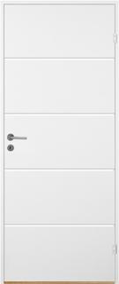 Innerdörr Bornholm - Kompakt dörrblad med linjefräst dekor X2 Vit (standard) (NCS S 0502-Y)