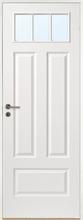 Innerdörr Gotland - Kompakt dörrblad med 4:spegel-indelning ink glasparti SP3 Vit (standard) (NCS S 0502-Y) Frostat glas