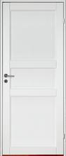 Innerdörr Kungsholmen - Massivt dörrblad med 3:spegel-indelning Vit (standard) (NCS S 0502-Y)