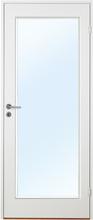 Innerdörr Orust - Slätt & kompakt dörrblad med stort glasparti G01 Vit (standard) (NCS S 0502-Y) Frostat glas