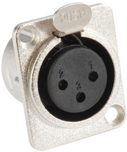 XLR Female plug chassis silver