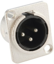 Chassis Connector XLR Male D-type