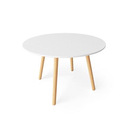 Department - Ray Spisebord Ø 110 cm, Hvid/Egetræ