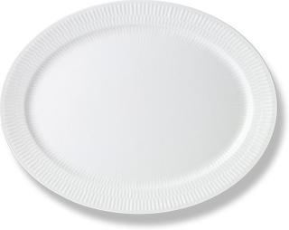 Royal Copenhagen - White Fluted Oval Tallerken 33 cm