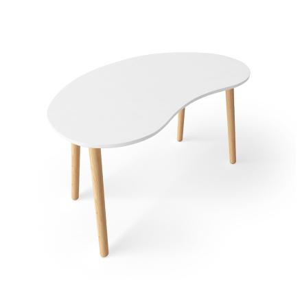 Department - Ray Skrivebord 72 cm, Hvid/Egetræ