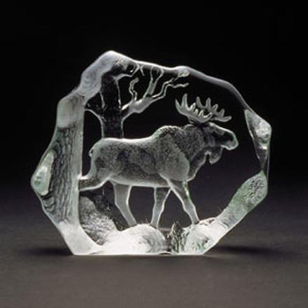 Målerås Glasbruk - Wildlife Elgtyr