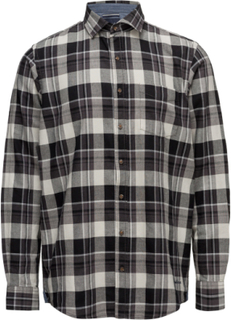 L/S Shirts Skjorte Casual Sort Signal