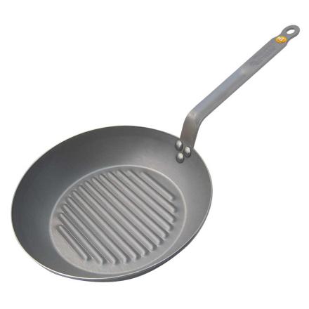 De Buyer - Mineral B Rund grillpande, 26 cm