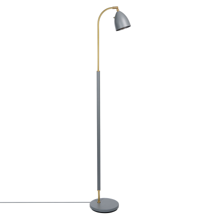 Belid - Deluxe Gulvlampe LED, Varmgrå/ Messing