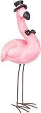 Flamingo med Hatt 60 cm Figur