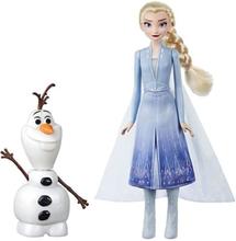 Hasbro Frozen 2 / Frost 2, talande figurer - Elsa & Olof