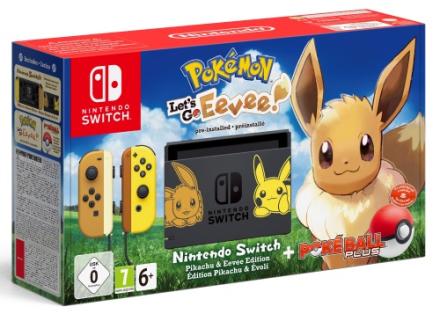 Nintendo Switch Pokémon Let's Go, Evee + Poké Ball Plus - CDON.COM