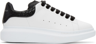 Alexander McQueen White and Black Python Oversized Sneakers