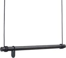 Lind DNA - Swing Tøjstativ 80cm, Sort/Sort Læder
