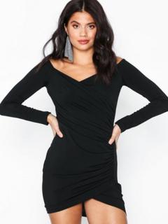Ax Paris Long Sleeve Offshoulder Dress Tætsiddende kjoler