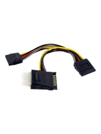 SATA to LP4 with 2x SATA Power Splitter Cable - power splitter - 15.2 cm