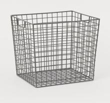 H & M - Stor oppbevaringskurv i metall - Sølv