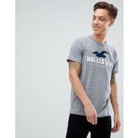 Hollister core tech logo t-shirt in grey marl - Grey marl