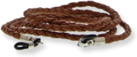 Eyewear string thin leather brown
