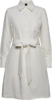 Janelle Corduroy Dress Knelang Kjole Hvit Gina Tricot