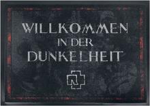 Rammstein - Willkommen In Der Dunkelheit -Dørmatte - mørkegrå, rød