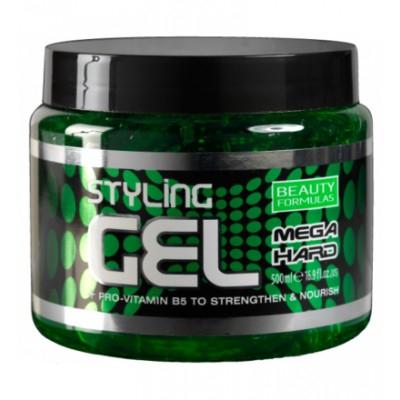 Beauty Formulas Mega Hard Styling Gel 500 ml