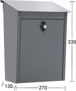 Låsbar postlåda Habo 9441