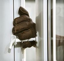 Inbrottsskyddande säkerhetsspärr SafeE - Vänster - Utåt - Vit