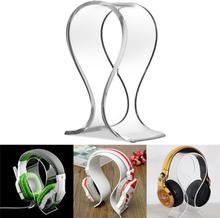 Acrylic earphone headset desk display stand hanger holder for he