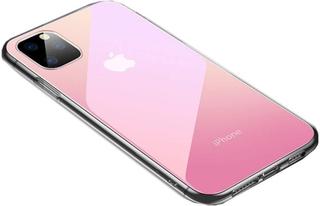 Skal till iPhone 11 Pro - transparent/rosa Pink