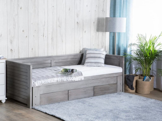Beliani Dagbädd 90 x 200 cm grå CAHORS