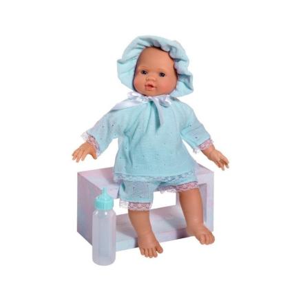 Asi dukke Popo i blåt striksæt og kyse - LykkeLeg