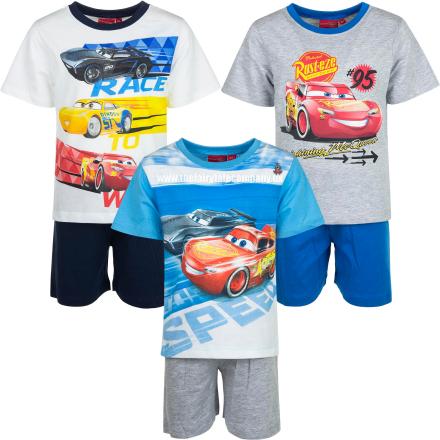 Cars sommersæt/sommer pyjamas, turkis/grå - TheFairytaleCompany