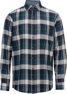 L/S Shirts Skjorte Casual Blå Signal
