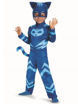 Catboy klassiske blå PJ masker Pjmasks superhelte drenge kostume S - Fruugo
