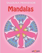 Målarbok Mandalas Sagolika prinsessor